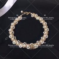 bracciali collana di perle marchio di moda popolari per partito delle donne della signora di disegno Lovers Matrimonio regalo di monili di lusso per la sposa con la SCATOLA