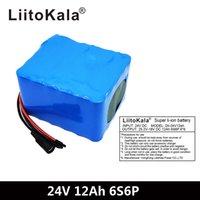 Liitokala 24V 12AH 6S6P Литиевая батарея 25,2 В 12000 мАч Батарея для велосипедной аккумуляторной батареи 350 Вт