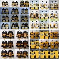 2020 Jersey 87 Sidney Crosby Jersey 58 Kris Letang 59 Jake Guentzel 66 Mario Lemieux 71 Evgeni Malkin Estádio Série hóquei