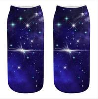 Nueva forma de estrella 3d calcetines calcetines impreso impresos digitales manera se divierte calcetines de algodón monopatín del calcetín calcetín imprimen al por mayor