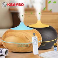 KBAYBO 550ML USB الهواء المرطب العبير الناشر التحكم عن بعد 7 تغيير الألوان أضواء LED بارد صانع ضباب لتنقية الهواء للمنزل