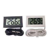 Mini LCD thermomètre numérique capteur de température Réfrigérateur Congélateur Instruments Capteur précis Temp mètre numérique -50 ~ 110C LJJP10