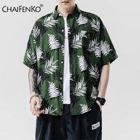 Camisas casuales para hombres Chaifenko 2021 Vacaciones de verano Playa de vacaciones Hawaiian Ocio de manga corta Hombres moda floral suelto