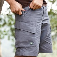 Summer Men Quick Dry Large Multi Pocket Loose Shorts Outdoor...