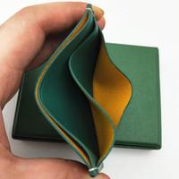 Nouveau Hommes Femmes carte de crédit Porte-Coated Toile avec cuir véritable Pocket Mini Slim portefeuille avec la boîte