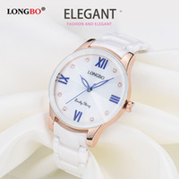 CWP 2021 Top Brand Longbo Luxury Fashion Casual Quartz Ceramica Orologi da ceramica Lady Relojes Mujer Donne da polso da polso Girl Dress Femmina Signore Orologio 80170