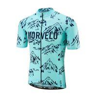 Morvelo Team Cycling Mangas cortas Jersey New Hombres Bicicleta de manga corta Racing Sportswear Bicicleta Ciclismo Trimible