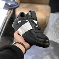 Neuste Männer VL7N Kalbsleder Turnschuhe Frauen Lace-up geprägte Leder Trainer Triple S-Schuh-Frauen-Plattform-Turnschuh-Kleid-Schuhe mit Box