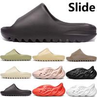 2020 New corredor espuma chinelo sandália, homens, mulheres deserto osso resina areia terra de fuligem marrom triplos totais sandálias laranja corrediça pretas