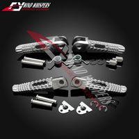 колышки Мотоцикл серебро Передние Задние подножки лапка для GSR400 600 GSXR600 750 GSXR1000 GSX1300R GSXR 1300 B-король Hayabusa