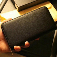 High Quality Hot Selling Luxury Designers Genuine Leather Mens Wallets Purse Card Holders Business Clutch Handbags With Box