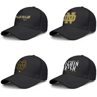 Notre Dame Fighting Irish football logo black mens and women...