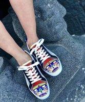 """La parte inferior plana de los hombres hi-top zapatos zapatilla de deporte de la manera del estilo para los hombres rojos perfecto de las únicas zapatillas de deporte de verano de malla del respiradero zapatillas de deporte """"ojos"""" de impresión del dedo del pie Genu"""