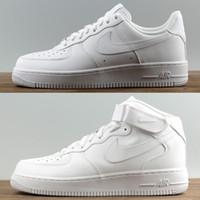 99c79cde37 Comprar marca airlis mens das mulheres sapatos de grife sneakers af1 todas  as forças pretas branco 1 um baixo alto clássico