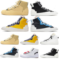 Nike Blazer Shoes Corredores Grossistas De Sapatos De Corrida De Blazer Mid Sacai Casual Combine Dunk High Cut Maize Navy University Blue Camo Luxury Sneakers