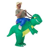 نفخ ديناصور زي ديناصور بذلة ديناصور الملابس هالوين ازياء مضحك حزب الحيوان تأثيري للمرأة رجل كيد الكبار