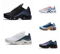 TN Plus SE zapatillas de deporte de triple negro blanco azul del aerosol tiburón Hyper pintar grito hombres verdes entrenador zapatillas deportivas corredor