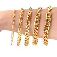Gioielli uomini donne bracciali bracciali di lusso di design in acciaio inox a maglie in acciaio di titanio chain uomo donna 3mm, 5mm, 7mm 9mm, larghezza di 11 millimetri