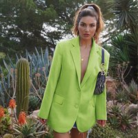 Mode Frauen Langarm Slim Fit Revers Jackett Damen Freizeit-Knopf Büro Mantel Outwear