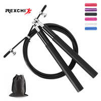 REXCHI Crossfit Jump Rope Skipping Professional Vitesse Fitness Workout entraînement MMA Boxe avec Equipement Sac de transport T191216