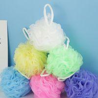 Chuveiro colorido esponja de malha Pouf Bath Spa Shower Scrubber bola colorida Esponjas mortas da pele celular Remover ZZA1839