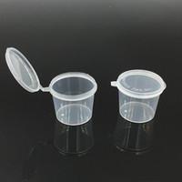 Весь продажа 1 унция одноразовая пластиковая порция Кубок приправа приправа соус с закусочной закусочной повязки, еле
