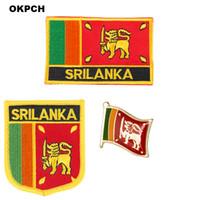 Sri Lanka Flagge Patch Abzeichen 3pcs ein Set Patches für Kleidung DIY Dekoration PT0163-3