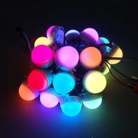 크리스마스 빛 30mm 주도 포인트 조명 픽셀 빛 파티 크리스마스 야외 사용 무료 배송 밀키 컬러 방수 점등