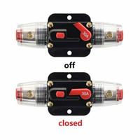 Coche DC 12V 30 Amp Audio Estéreo Disyuntor Restablecimiento manual Reemplazar portafusibles