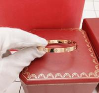 Top Ten Diamonds Liebe Armbänder 18K Silber Rose Gold Liebe Armreifen Frauen Männer Schraube Schraubendreher Armband Schmuck mit Top Original Box Geschenk