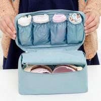 Femmes Sacs À Cosmétiques Soutien-Gorge Sous-Vêtements Chaussettes Emballage Cube Sac De Rangement Voyage Bagages Organisateur Cas Solide Casual Nouvelle Vente Chaude