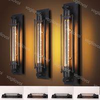 مصابيح الحائط irom 220 فولت لوفت خمر الأمريكية الصناعية اديسون E27 لغرفة النوم مدخل باب الديكور epacket