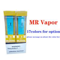 Barras de tracción en caliente MR VAPOR disspape pluma Dispositivo Pod Starter Kit MRVAPOR 280mAh batería 1,3 ml cartuchos 400Puffs precargada e cigs vaporizadores.