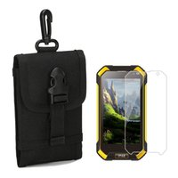 Etui de protection portable en nylon durable imperméable + 9H Protecteur d'écran en verre trempé pour Blackview 6000 Blackview6000