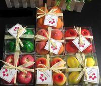 محاكاة الفاكهة شموع على شكل مهرجان شمعة رومانسية جو الديكور الأزياء حزب شمعة بوجي 4PCS / مجموعة