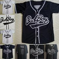 영화 스웨터 남성 나쁜 소년 # 10 블랙 야구 유니폼 스웨트 화이트 직접 힙합 야구 저지 100 % 모든 스티치