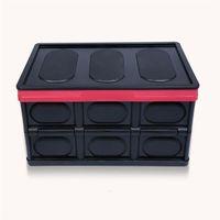 30L Pliable Storage Bins Utilitaire durable pliable en plastique empilable Crates Conteneur Boîte de rangement avec couvercle pour Jouets Livres
