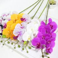 Künstliche blumen real touch künstliche motte orchidee butterfly orchidee für hausgarten home office hochzeit festival dekoration