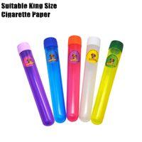 Plastica Acrilico King Size Tube Dowob 135 mm Fial impermeabile Aerentight odore a prova di cigaretta Sigaretta Soggiorno solido Sealing contenitore