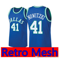 New Arrival. Retro Mesh Dirk 41 Nowitzki Dallas Doncic Mavericks Jersey  Embroidery men Basketball Jerseys ... 1ef7fcd0b