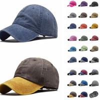 Vintage Yıkanmış Boyalı Beyzbol şapkası Yetişkin patchwork Ayarlanabilir Unisex Klasik Düz spor açık hava yaz baba Şapka Snapback LJJA3800