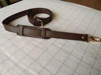 2.5 cm de ancho Crossbody Strap Reemplazo de bolsas ajustables Accesorios de hardware de oro Cuero real Color marrón