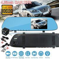 Universal Car DVR Camera Recorder Dash Cam 720P 4.3inch vetro Motion Detection HD telecamera posteriore a specchio Pratico dash cam
