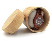 Натуральная бамбуковая коробка для часов ювелирные изделия деревянная коробка мужские наручные часы держатель коллекция дисплей чехол для хранения подарок SN2112