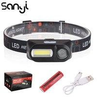 SANYI COB XPE 3800 LM Headlamp USB Rechargeable Headlight To...