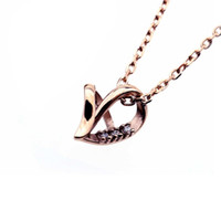 Necklace ARPSS174- rose gold New 316L heart with stones penda...