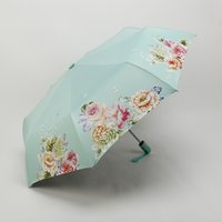 Printed Triple Folding Umbrella Sunny Or Rainy Amphibious Fl...
