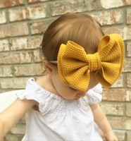 Nishine Baby Girls двухслойный лук нейлоновая лента для волос новорожденный Большие Луки для волос оголовье детские аксессуары для волос Фото реквизит