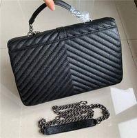 Klassische Jumbo X Large 32CM V-Form mit Kettenschultertasche Handtasche Frauen-Hand Big Messenger Bag Umhängetasche Handtasche Einkaufs Totes