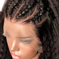 Diritta crespa 360 Circle Frontal del merletto parrucca brasiliano Remy parrucche per donne di colore 150% a pizzico con dei capelli del bambino Medio Rapporto Marchio JKO1